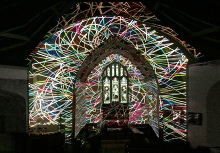 At the end of our carol service Rupert Newman projected a remarkable lighting display. Please for further examples of his work!