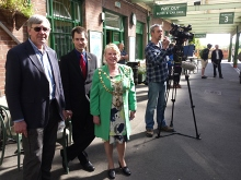 Our Sunday Rover is welcomed by the Mayor of Okehampton and TV networks